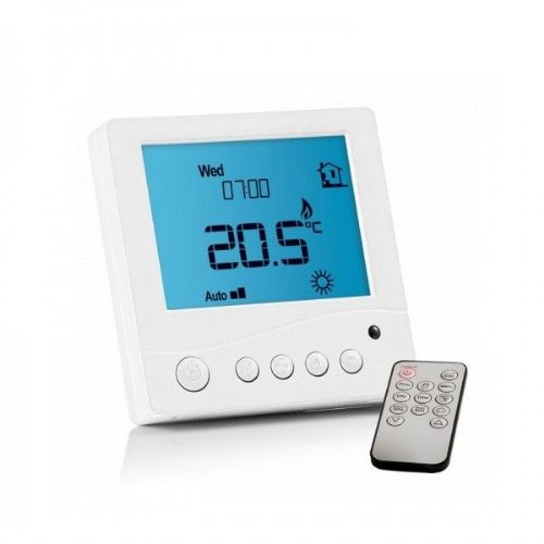 Abacus Essentials Digital Thermostat For Underfloor Heating With Remote - White